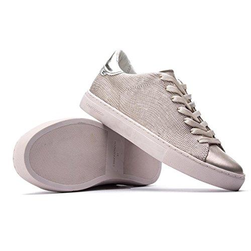 Effetto Crime Oro Sneakers Rosa 39 Size Basse Pitonato London wqqS6vWA7