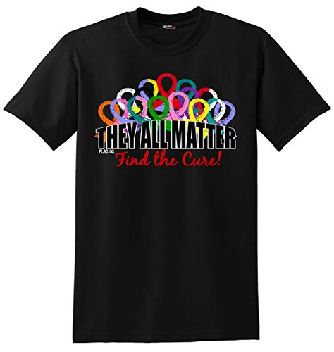 - They All Matter Cancer Awareness T-Shirt Unisex Black [3X]