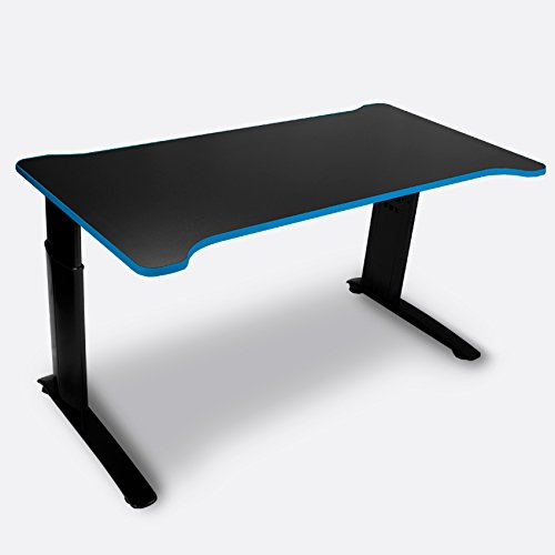 NXT Levl Gaming Gamma Series PIN Height Adjustable Desk, Black/Blue by NXT Levl Gaming