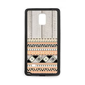 Diy Aztec Andes Tribal Custom Cover Phone Case for samsung galaxy note 4 Black Shell Phone [Pattern-5]