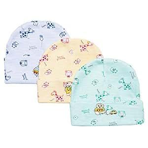 CottonWorld Infant Cap 3 Piece Pack for Kids
