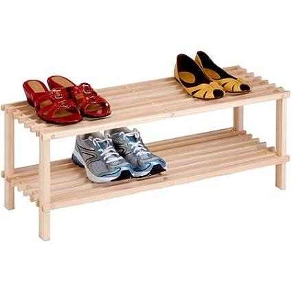 Diech Zapatero de madera multiusos Ideal para el hogar y la oficina Organizador de 2//3//4 niveles 4 niveles entrada de entrada//dormitorio//sala de estar