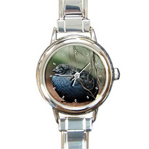 DIB143Don't Feed the bird Italian charm wrist (Bird Italian Charm Watch)