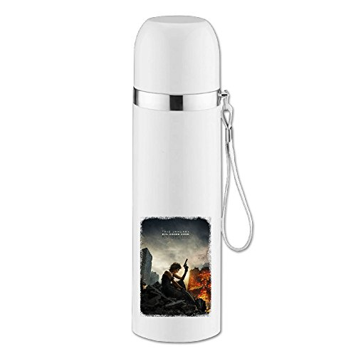 ASCHO2 Vacuum Insulated Stainless Steel Resident Evil Water Bottle With Cup Cap And Pourable Stopper For Indoor And Outdoor Activities, 25-Ounce - Jill Resident Evil Costume