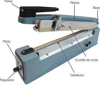 TERMOSELLADORA SOLDADORA DE BOLSAS,PLASTICOS 40CM CON CUTTER: Amazon ...