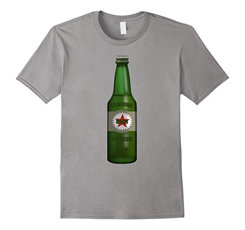 Mens Beer Bottle Costume T-Shirt Brew Brewing Fermenting Beverage 2XL Slate