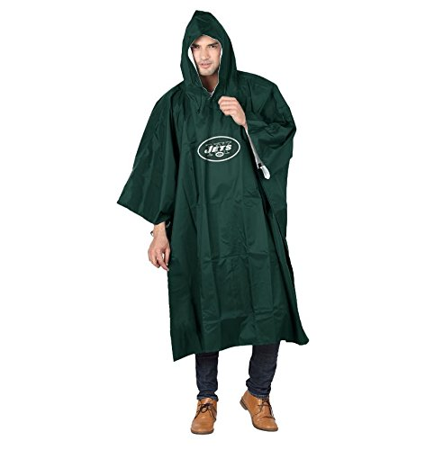 York Jets - The Northwest Company NFL New York Jets Deluxe Poncho, One Size, Black