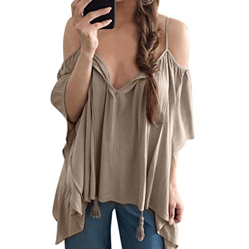 Womens Shoulder Sleeve Blouse Casual