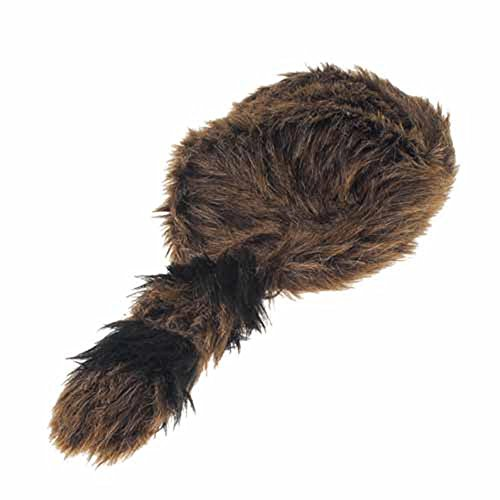 US Toy Faux Fur Classic Raccoon Tail Hat]()
