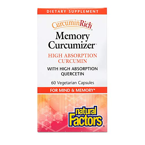 Cheap Natural Factors – CurcuminRich Memory Curcumizer, Supports Healthy Inflammation Response and Brain Function with Turmeric, 60 Vegetarian Capsules