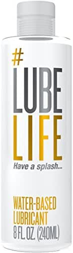 #LubeLife Water Based Personal Lubricant, 8 oz Sex Lube for Men, Women & Couples