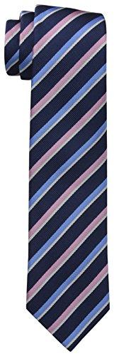 Dockers Men's Striped Necktie,Navy/Pink,One Size