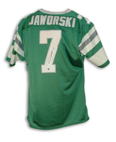 - Ron Jaworski Philadelphia Eagles Autographed Green Throwback Jersey - APE COA