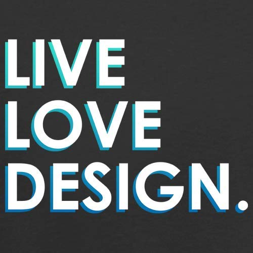 Dressdown Live Love Design - Unisex Adult Apron - Black - One Size by Dressdown (Image #2)