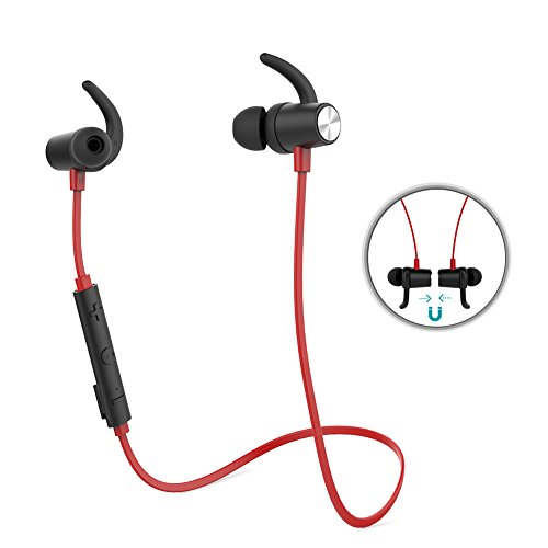 Mylar Driver (Bluetooth Headphones, dodocool Wireless 4.1 Sports Earphones with Magnetic In-ear Earbuds and APT-X Mic, CVC 6.0 Noise Cancellation)