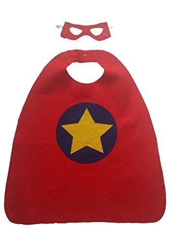 Custom Superhero Costume Set for Child (Cape and Mask) - CHOOSE COLORS and EMBLEM]()