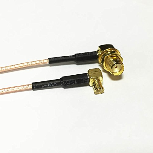 2pcs Wireless Card Cable MCX Male Right Angle 90-Degree to SMA Female Right Angle nut RF Coax Cable RG178 15cm 6inch
