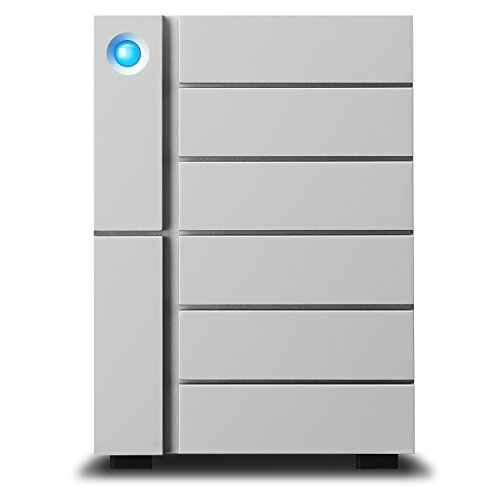 LaCie 6big Thunderbolt 3 6-Bay Desktop RAID Storage Array with 24TB HDD (6x 4TB), 7200 RPM, 40Gb/s at Thunderbolt 3, 10Gb/s at U