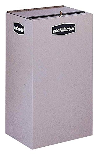 Rubbermaid Commercial Products FGNC30P11L Collect-A-Cube Customizable Recycling Containers, Paper (Confidential), 28 1/2 gal, with Lock