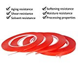 Kaisiking 2mm / 3mm / 5mm / 10mm x 25M Clear Heat Resistant Double Sided Tape Rolls Transparent Strong Adhesive Sticker Tape for Cell Phone, iPad, iMac, Electronic Equipment LCD Touch Screen Repair