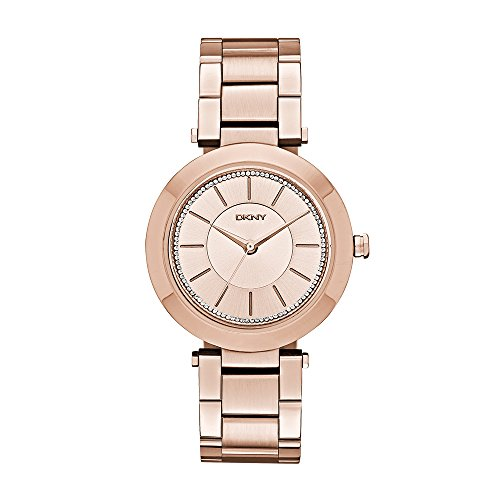 Dkny Bracelet Water Resistant - DKNY Women's NY2287 STANHOPE Rose Gold-Tone Stainless Steel Watch