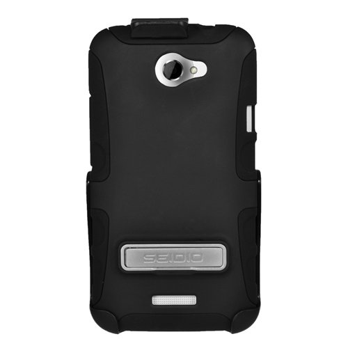 Seidio BD2-HK3HTNXLK-BK DILEX Case with Metal Kickstand and Holster Combo for use with HTC One X (AT&T LTE) / HTC One X (International GSM) - Black