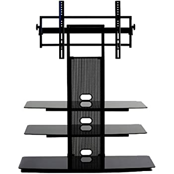 transdeco tv stand with universal mounting system for 35 to 65 inch led lcd tv. Black Bedroom Furniture Sets. Home Design Ideas