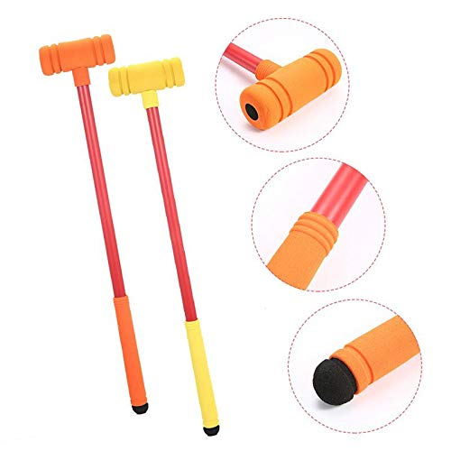 Park and More Volwco Croquet Set for Kids Backyard Indoor /& Outdoor Foam Two Player Croquet Set Perfect for Lawn