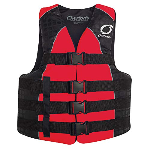 Buckle 4 Nylon Vest Mens - Overton's Men's 4-Buckle Nylon Vest Red (L/XL)