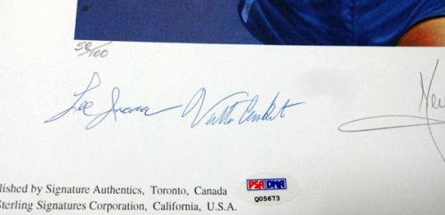 Victory Autographed Lithograph Neil Armstrong Muhammad Ali /100 Q05673 PSA/DNA Certified Autographed Boxing Art