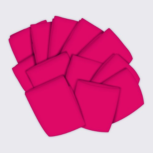 SheetWorld 12 Pack Fitted Basket Sheets 13'' x 27'' - Hot Pink Jersey Knit - Made In USA