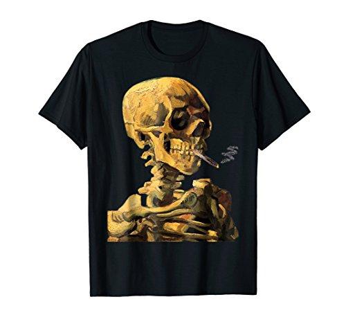 Vincent Van Gogh Skull With Burning Cigarette Halloween -