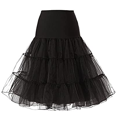 "KISSBRIDAL Women's Vintage Rockabilly Petticoat 25"" Length Tutu Underskirt"