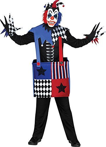 Scary Clown Jack In The Box (Freak in a Box Child Costume - Medium)