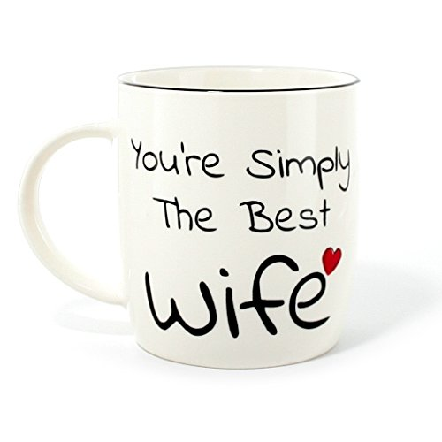 Amazing Christmas Gifts For Her: Gifffted Simply Worlds Best Wife Ever Coffee Mug Gift For