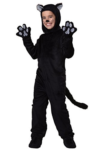 Big Boys' Black Cat Costume Medium