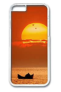 Boating Sunset Polycarbonate Hard Case Cover for iphone 6 plus 5.5inch Transparent