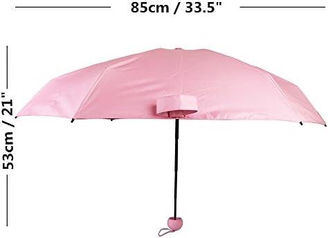 Mini Pocket Capsule Umbrella Anti UV Folding Rain Windproof Rainy Sunny Day+Case