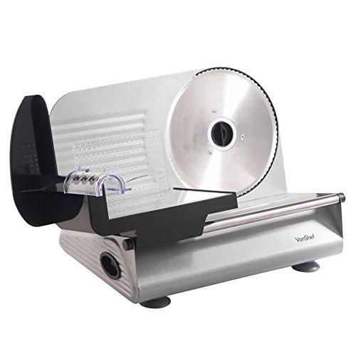 Vonshef precision electric food slicer deli meat slicer for Precision electric motor sales
