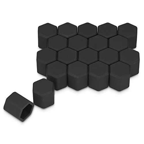 kwmobile Set of 20 Car Wheel Nuts Covers for 17