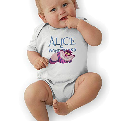 (Lovebbag Alice in Wonderland Cheshire Cat Baby Jersey Jumpsuit Bodysuits White)
