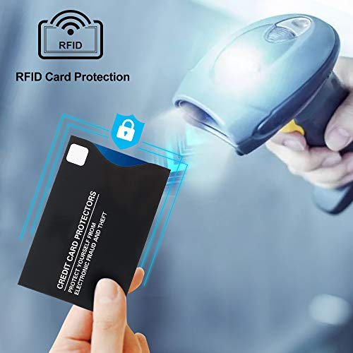 LotFancy 19 RFID Blocking Sleeves (14 Credit Card Protectors and 5 Passport Sleeves) for Identity Theft Protection, Smart Slim Design fits Wallet/Purse