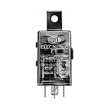 with holder 6V Electronic with cable HELLA 4AZ 003 787-051 Flasher Unit