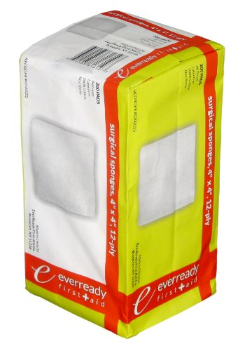 Ply 4x4' Non Sterile - EverReady Premium Gauze Pad Sponges 4''X4'' 12PLY Non-Sterile 200/Pouch
