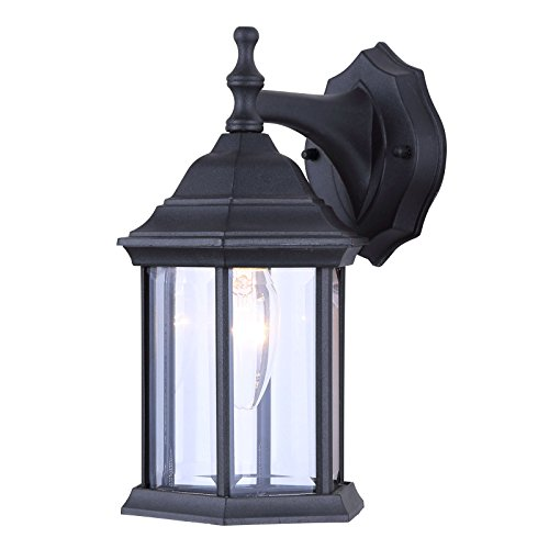 (Exterior Wall Lantern Light Fixture Sconce Outdoor Lantern, Matte Black)