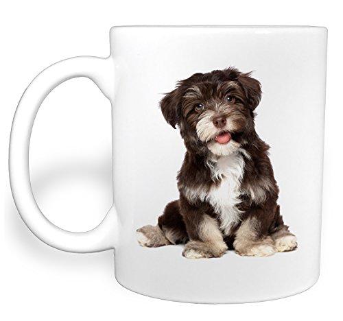 Chocolate Havanese Puppy Dog - 11 Ounce Ceramic Coffee Mug