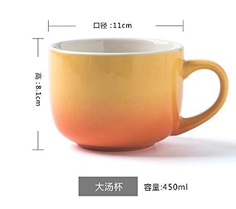 Gran capacidad de vaso de cerámica taza, taza de leche, avena, yogur taza, Taza Desayuno: Amazon.es: Hogar