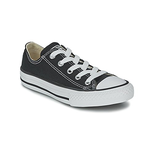 Girls Converse All Stars (Converse All Star Low Black/White Kids Shoes 3J235 Sneakers, 3 Little)