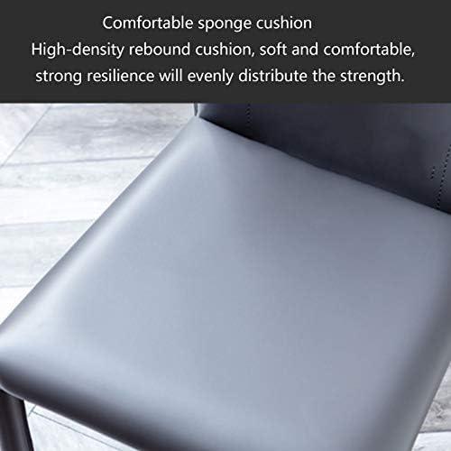 BECE Chaise, Chaise à Manger de Luxe Simple lumière Nordique, Chaise de Style Industriel Italien Maison décontracté Noir Restaurant