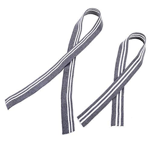 MOPOLIS 2 Pcs Cotton Stripe Knit Trimming Fabric For Jacket Waistbands Cuffs Collar Hem   Color - #20